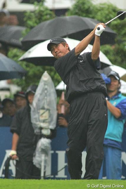 2004年 日本プロゴルフ選手権大会 最終日 深堀圭一郎 最後までS.K.ホを苦しめたが1打及ばず2位の深堀圭一郎