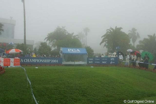 初日に続き最終日も濃霧の影響で中断し54ホールに短縮された