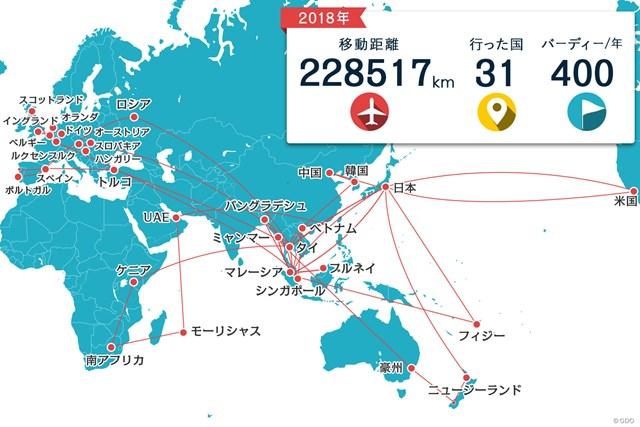 1年で約23万kmの旅。31カ国に立ち寄りました