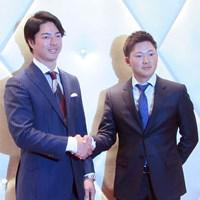 選手会長2年目となる石川遼(左)と副会長に就任した今平周吾 2018年 石川遼 今平周吾
