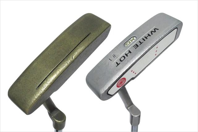 ヘッドが軽めのピンタイプ、左「ピン アンサー 85068」と右「ホワイトホット XG #1」