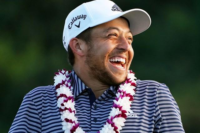 表彰台で笑顔を見せるシャウフェレ(Masterpress/Getty Images)