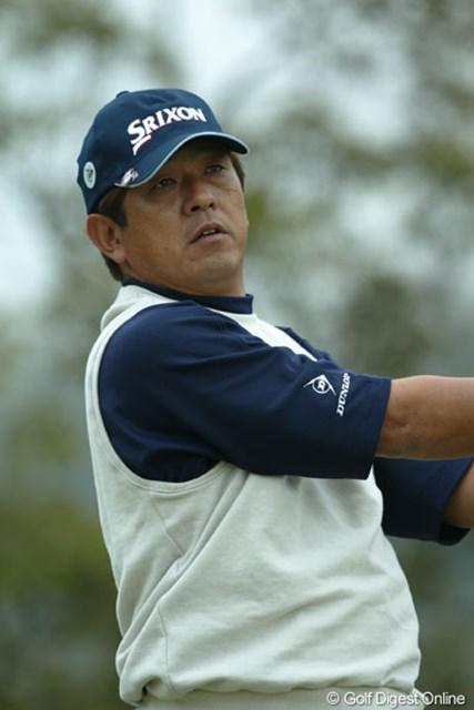 2004年 ゴルフ日本シリーズJTカップ 2日目 加瀬秀樹 この日4つスコアを伸ばし首位に並んだ加瀬秀樹(写真は東建カップ時のもの)