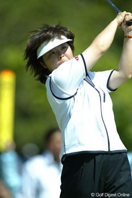 2004年 ゴルフ5レディスプロゴルフトーナメント 最終日 不動裕理 27歳でツアー通算30勝目を飾った不動裕理(写真はダイキンオーキッド時のもの)