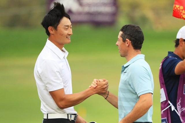前年は僅差の優勝争いを演じた李昊桐とマキロイ(Andrew Redington/Getty Images)