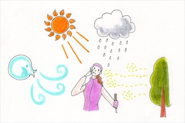 冬場に多くの人が悩まされる、肌の乾燥要因の数々(イラスト/丸山裕子)