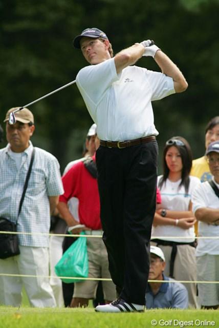 初日は大人しいゴルフのR.グーセン。全米OP優勝の実力は発揮されるか