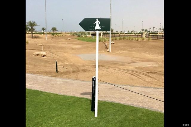 サウジアラビアのクロスウェイの表示。民族衣装でした