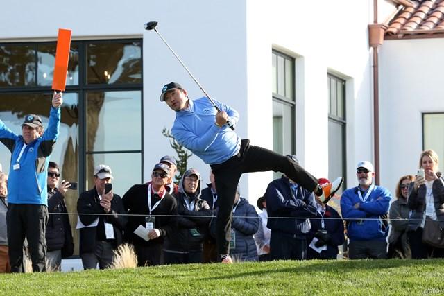 モントレーペニンシュラCCの1番でティショットを放ったチェ・ホソン。PGAツアーデビューだ