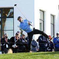 モントレーペニンシュラCCの1番でティショットを放ったチェ・ホソン。PGAツアーデビューだ 2019年 AT&Tペブルビーチプロアマ 初日 チェ・ホソン