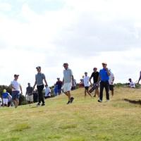 石川遼の組につく観客たち 2019年 ISPS HANDA ヴィックオープン 石川遼とギャラリー