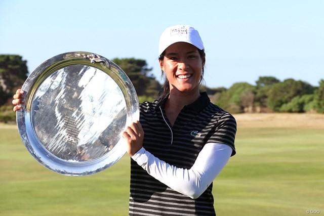 セリーヌ・ブティエがツアー初優勝を挙げた