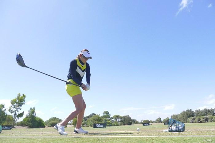 オーストラリアも初めての地。今週20歳になる原英莉花 2019年 ISPS HANDA オーストラリア女子オープン 事前 原英莉花