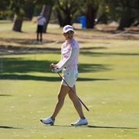 初日はパットとウェッジに苦しんだという新垣比菜 2019年 ISPS HANDA オーストラリア女子オープン 初日 新垣比菜
