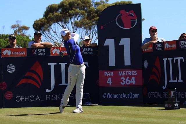 2019年 ISPS HANDA オーストラリア女子オープン 2日目 野村敏京 野村敏京は首位と3打差で決勝ラウンドに進んだ