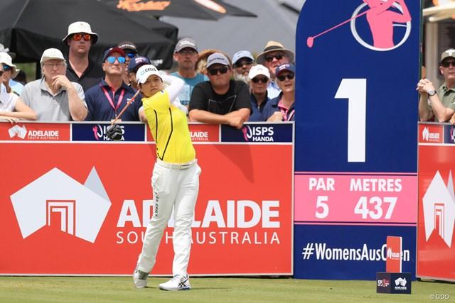 2019年 ISPS HANDA オーストラリア女子オープン 最終日 野村敏京 首位に3打差で最終ラウンドをスタートした野村敏京