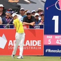 首位に3打差で最終ラウンドをスタートした野村敏京 2019年 ISPS HANDA オーストラリア女子オープン 最終日 野村敏京