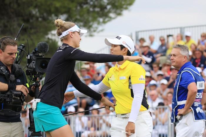 最終日最終組を戦った野村敏京 2019年 ISPS HANDA オーストラリア女子オープン 最終日 野村敏京