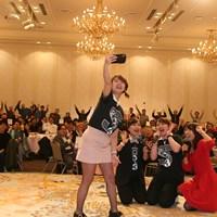 ファンイベントを実施した(左から)SKE48の山内鈴蘭さん、青木瀬令奈、岡村咲ら 2019年 青木瀬令奈 岡村咲 山内鈴蘭