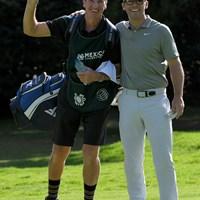 ケーシー(右)とキャディのマクラーレン氏※撮影は大会初日(Stan Badz/PGA TOUR) 2019年 WGCメキシコ選手権 初日 ジョン・マクラーレン ポール・ケーシー