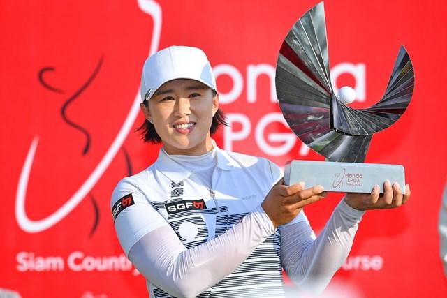 2019年 ホンダ LPGAタイランド 最終日 エイミー・ヤン 2019年大会を制したエイミー・ヤン(Thananuwat Srirasant/Getty Images)