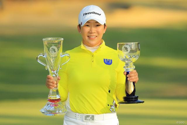 公式戦3勝により7年シードを獲得した申ジエ ※画像は「LPGAツアー選手権リコーカップ」最終日
