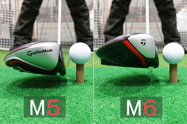 M5のほうがやや上下の厚みが薄い印象だが微妙な差…