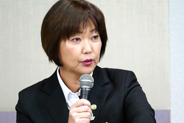 放映権を巡る問題について選手に理解を求めた小林浩美LPGA会長