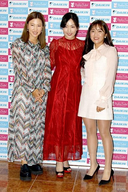 (左から)上田桃子、笠りつ子、イ・ボミ