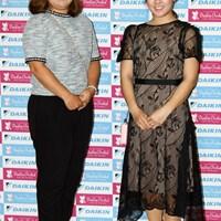 (左から)東浩子、香妻琴乃 2019年 ダイキンオーキッドレディスゴルフトーナメント 事前 (左から)東浩子、香妻琴乃