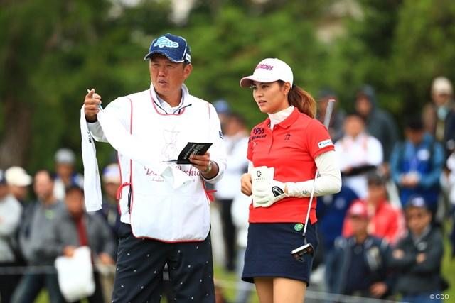 2019年 ダイキンオーキッドレディスゴルフトーナメント 初日 新垣比菜 開幕は清水キャディと