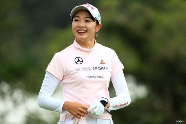 2019年 ダイキンオーキッドレディスゴルフトーナメント 初日 三浦桃香 この笑顔で2019年も頼むよ