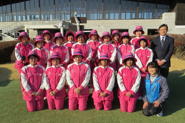 スターツ笠間ゴルフ倶楽部(茨城県)のキャディの皆さん