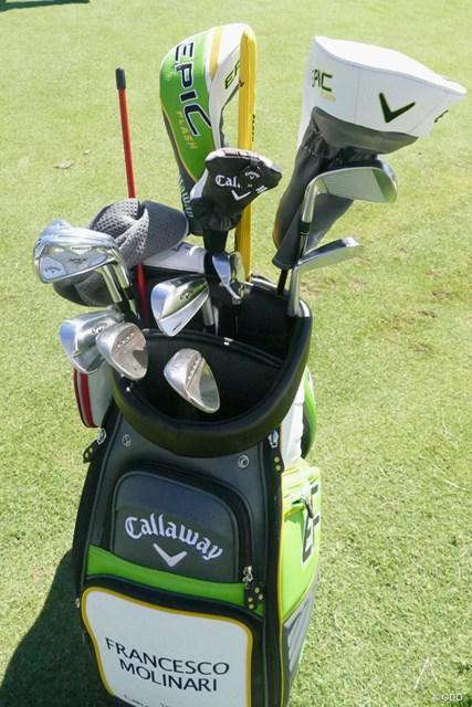 キャロウェイゴルフと契約したフランチェスコ・モリナリのキャディバッグ