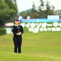 看板前、はまったな 2019年 ダイキンオーキッドレディスゴルフトーナメント 2日目 永峰咲希