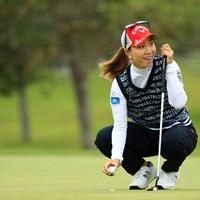 シャッターチャンスでした 2019年 ダイキンオーキッドレディスゴルフトーナメント 3日目 上田桃子