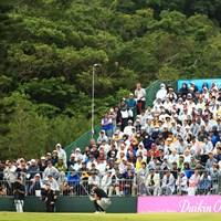 18番フィニッシュシーン 2019年 ダイキンオーキッドレディスゴルフトーナメント 最終日 福田真未