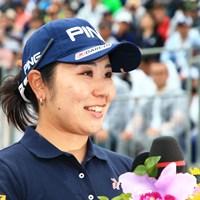 笑顔のインタビュー 2019年 ダイキンオーキッドレディスゴルフトーナメント 最終日 比嘉真美子