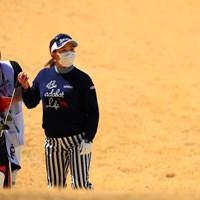 マスクの季節 2019年 ヨコハマタイヤゴルフトーナメント PRGRレディスカップ 初日 吉田弓美子