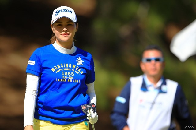 2019年 ヨコハマタイヤゴルフトーナメント PRGRレディスカップ 2日目 新垣比菜 新垣比菜が人生初のホールインワンを達成した
