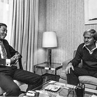 中部銀次郎はジャック・ニクラス(右)の来日時にテレビマッチを戦った ※画像提供:三田村昌鳳 1973年 中部銀次郎 ジャック・ニクラス