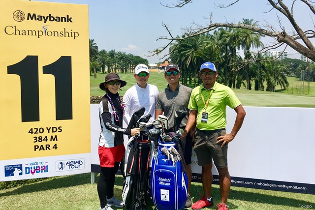 今週はマレーシア。アジアでプレーする水野眞惟智選手と一緒に練習ラウンドをしました