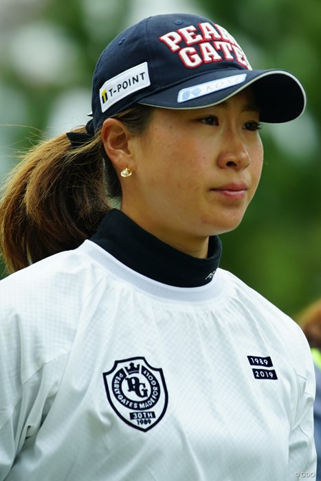 明日は巻き返したいホステスプロ。 2019年 Tポイント×ENEOSゴルフトーナメント 初日 木戸愛