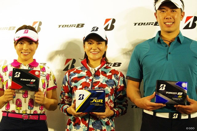 宮里藍さんはゴルフフェアのイベントに出席した