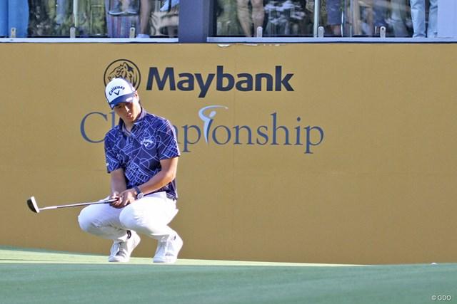 決勝進出をかけたバーディパットは惜しくも外れ、1打差で予選落ちした石川遼