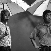 中部銀次郎(左)は生前、多くの一般アマチュアともゴルフをともにした。右は若かりし日の三田村昌鳳氏 中部銀次郎