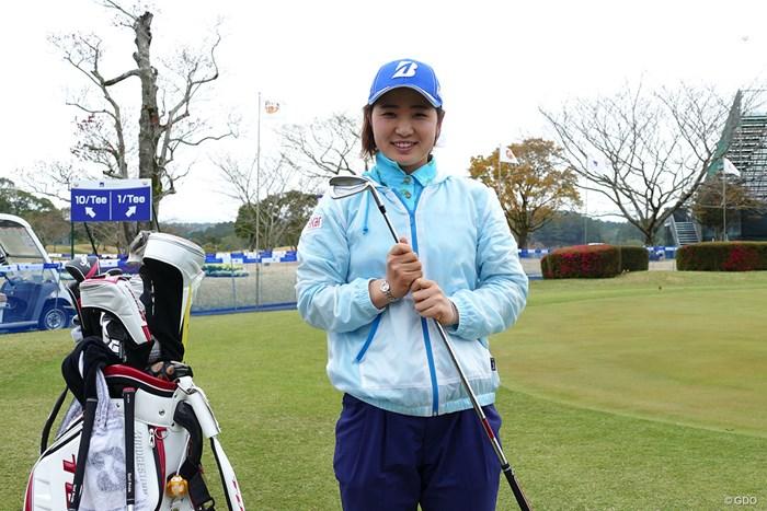 蛭田みな美。父・宏さんは「最近クラブのこだわりが出てきた」と目を細める 2019年 アクサレディスゴルフトーナメント in MIYAZAKI 事前 蛭田みな美