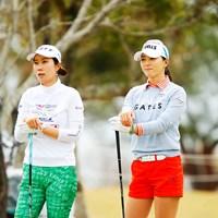 先輩と後輩 2019年 アクサレディスゴルフトーナメント in MIYAZAKI 初日 李知姫&ユン・チェヨン