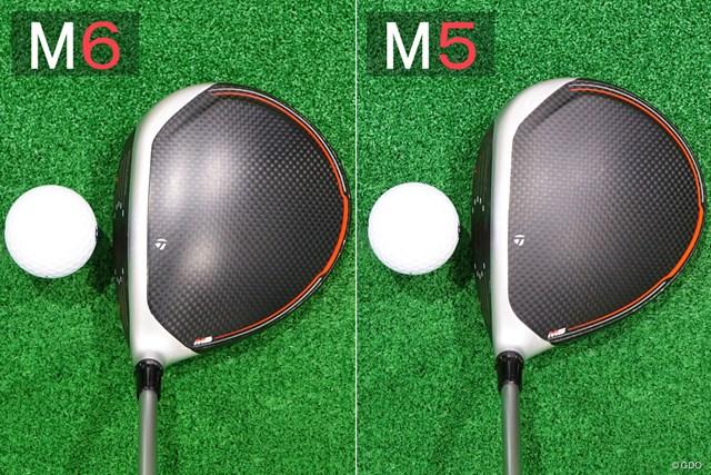 M6 ドライバー/ヘッドスピード別試打 見た目の形状もほぼ同じ。M6のほうがクラウンに光沢がある