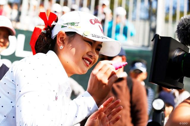 2019年 アクサレディスゴルフトーナメント in MIYAZAKI 最終日 河本結 何を書いたかはこの後のTVで!